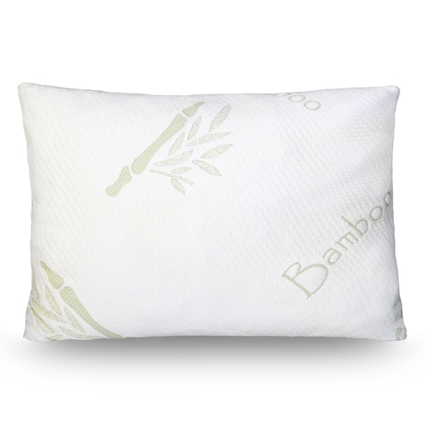 Luxury Adjustable Shredded Memory Foam Pillow - Removable Bamboo Cover