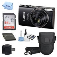 Canon PowerShot ELPH 360 HS with 12x Optical Zoom and Built-In Wi-Fi with Deluxe Starter Kit Including 64GB SDHC + Camera Case