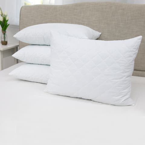 SensorPEDIC Quilted Memory Foam Cluster Pillow - White