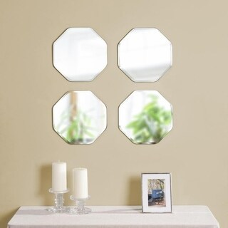 Quatre Frameless Octagon Mirrors (Set of 4)