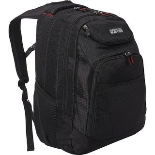 Kenneth Cole Reaction Tribute 1680D Polyester Dual Compartment Multi-Pocket 17in Laptop Business Backpack