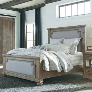Carbon Loft Nightingale Traditional Rustic Smoke and Grey Bed