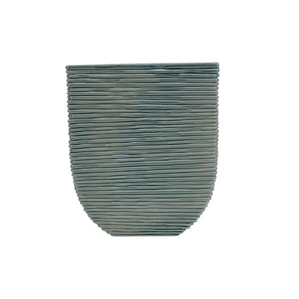 Urban Designs Malibu Coastal Blue Glazed Ceramic Vase