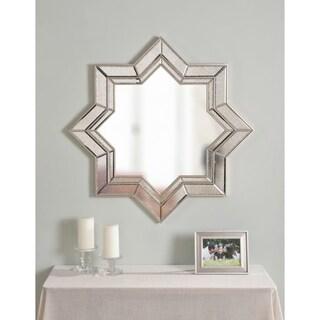 "Kai 35"" Champagne Geometric Wall Mirror"