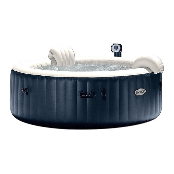 Pure Spa 6 Person Inflatable Portable Heated Bubble Hot Tub By Intex