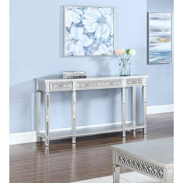 Best Home Furniture Reviews: Shop Best Master Furniture Silver Sofa Table