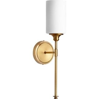 Celeste Aged Brass and Satin Opal 1-light Wall Light