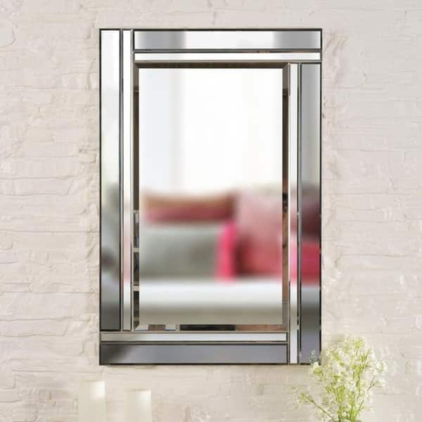 Shop Clarke 36 Rectangular Beveled Wall Mirror 36 X 24 On Sale Overstock 22082010