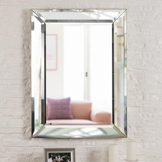 "Nolan 40"" Rectangular Beveled Wall Mirror"