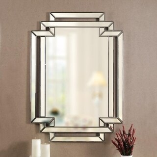 "Ryleigh 44"" Rectangular Beveled Wall Mirror"