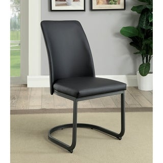 Marlene Contemporary Black U-shaped Dining Chair (Set of 2) by FOA
