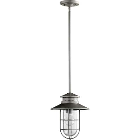 Moriarty Med Pend Clear Seeded 1-light Outdoor Pendant Lighting