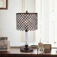 Kendrick Rustic Bronze 1-Light Pendant with Crystal Shade