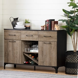 South Shore Valet Buffet with Wine Storage