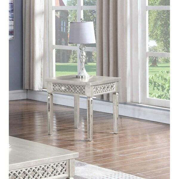 Shop Best Master Furniture Weathered Oak Sleigh: Shop Best Master Furniture Champaign Gold End Table