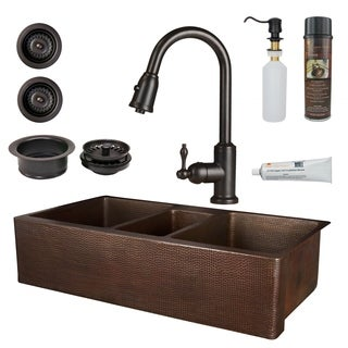 Premier Copper Products - KSP2_KATDB422210 Kitchen Sink, Faucet and Accessories