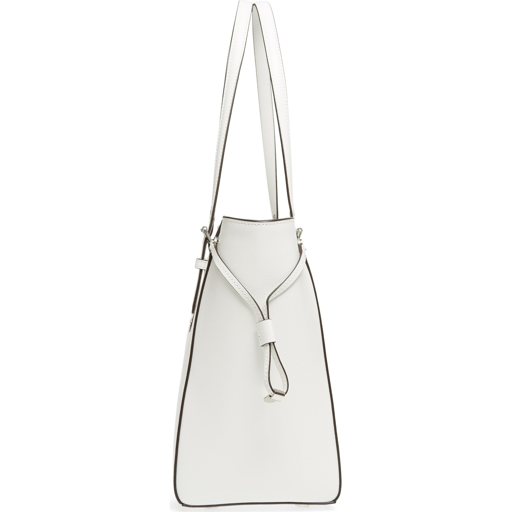 65957763257 MICHAEL Michael Kors Voyager Medium Top Zip Optic White Tote Bag