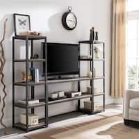 Carbon Loft Grandin Rustic Black with Distressed Fir Media Bookcase