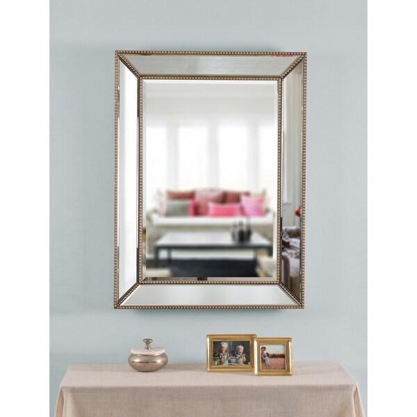 Shop Lyla 40 Quot Rectangular Champagne Wall Mirror Free