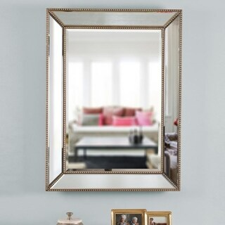 "Lyla 40"" Rectangular Champagne Wall Mirror"