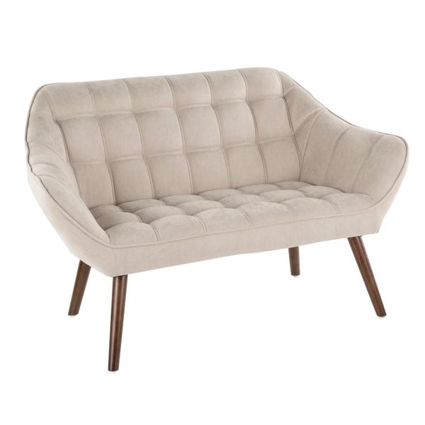Boulder Mid-Century Modern Upholstered Loveseat