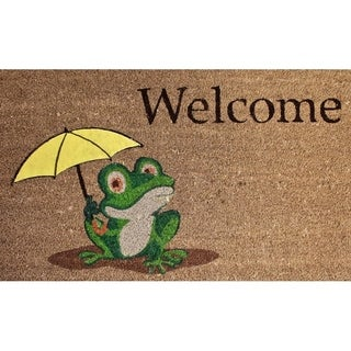 "Unbelievable Mats 18""x30"" Frog Welcome Mat"