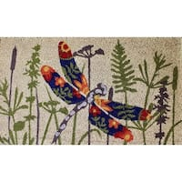 "Unbelievable Mats 18""x30"" Dragonfly Door Mat"