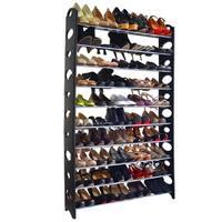 Studio 707 Black Multi-Size Shoe Rack