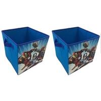 Avengers Blue Collapsible Storage Cubes (Set of 2)