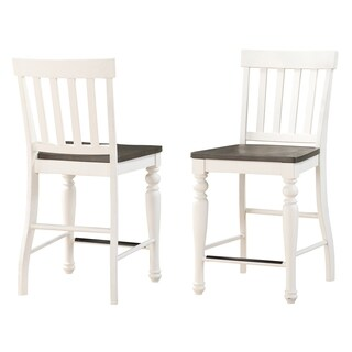 Jillian Farmhouse Two-Tone Counter Chairs by Greyson Living (Set of 2)
