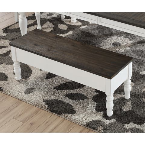 Jillian Farmhouse Two-Tone Storage Bench by Greyson Living