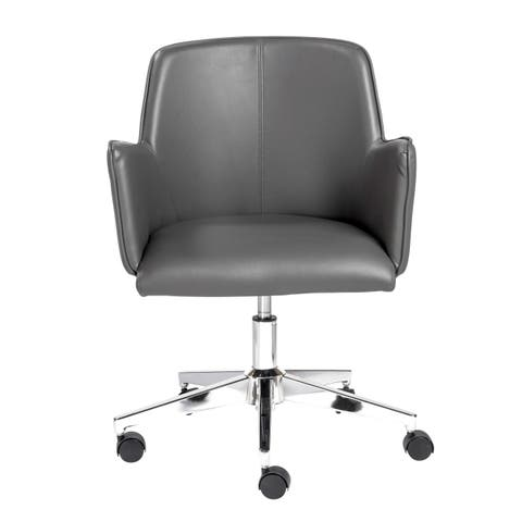 Sunny Pro Office Chair in Gray with Chrome Base