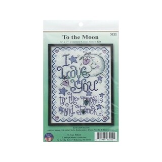 Design Works Cross Stitch Kit 5x7 To The Moon