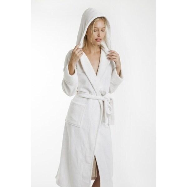 Hooded Super Plush Fleece Robe