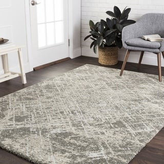 "Mid-century Taupe/ Beige Abstract Rug - 8'10"" x 12'7"""
