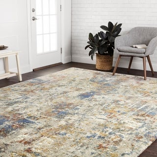 "Mid-century Multi/ Grey Abstract Rug - 8'10"" x 12'7"""