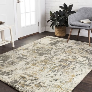 "Mid-century Grey Granite Abstract Rug - 8'10"" x 12'7"""