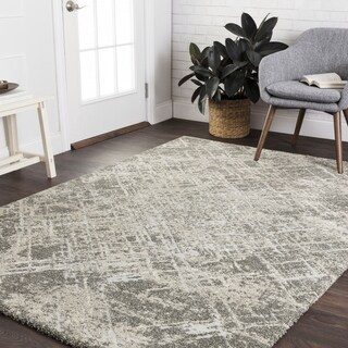 """Mid-century Taupe/ Beige Abstract Rug - 5'3"""" x 7'7"""""""