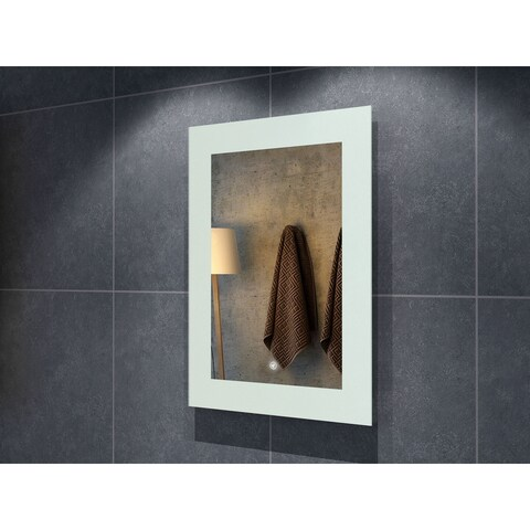 "24"" Salerno Illuminated Rectangle LED Mirror - Clear - 24"" w x 1.5"" d x 32"" h"