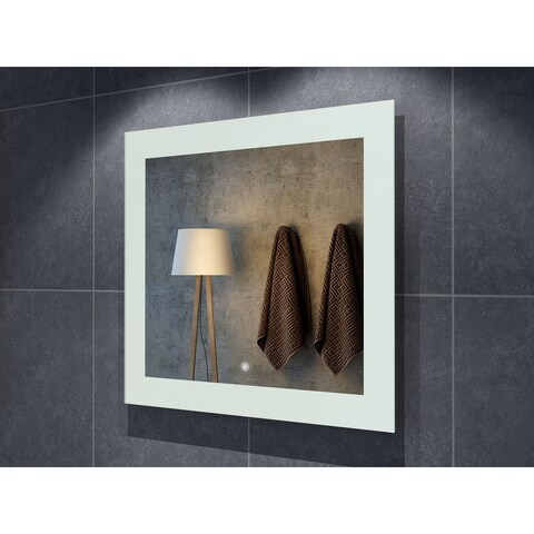 "36"" Salerno Illuminated Rectangle LED Mirror - Clear - 36"" w x 1.5"" d x 32"" h"