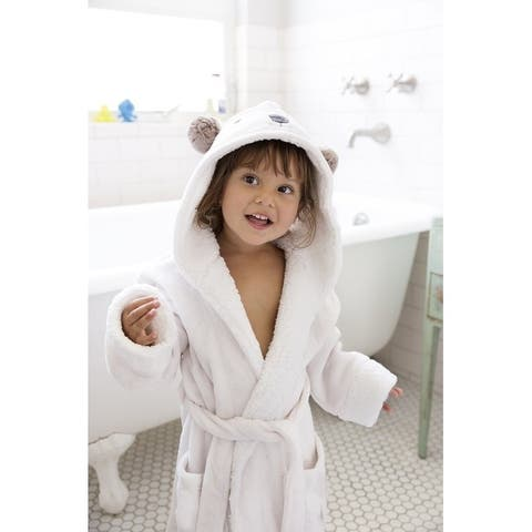 Kids Hooded Super Plush Fleece Robe