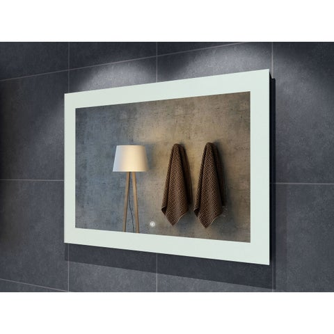 "48"" Salerno Illuminated Rectangle LED Mirror - Clear - 48"" w x 1.5"" d x 32"" h"