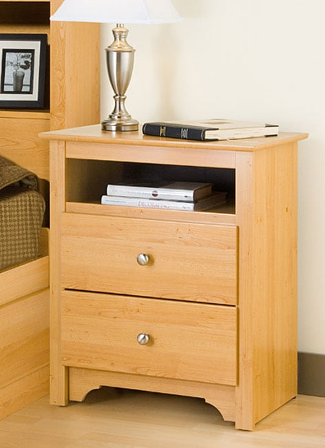 Montego Maple 2 Drawer Amp Open Cubbie Nightstand Free