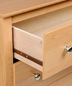 Montego Maple 2-drawer & Open Cubbie Nightstand - Thumbnail 2