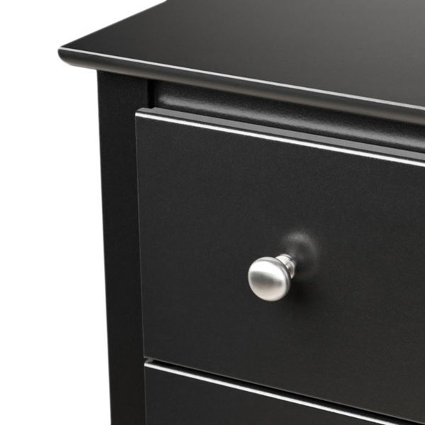 broadway black 2drawer and open cubby nightstand free shipping today