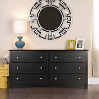 Laurel Creek Easton Black 6-drawer Dresser