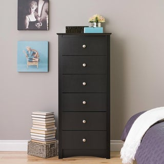 Broadway Black 6 Drawer Lingerie Chest
