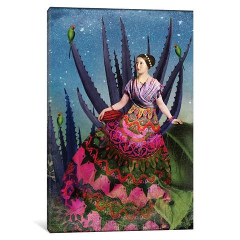 """iCanvas """"Blue Agave and Cacao"""" by Catrin Welz-Stein Canvas Print"""