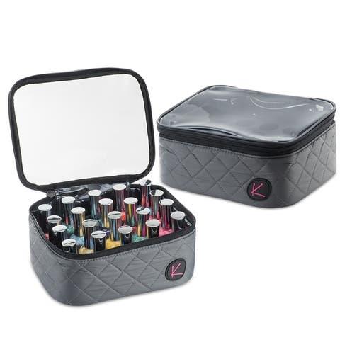KIOTA 20 bottles Nail Polish Cosmetic Storage Travel Organizer Makeup Bag
