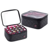KIOTA Nail Polish Travel Organizer with 20 Pockets